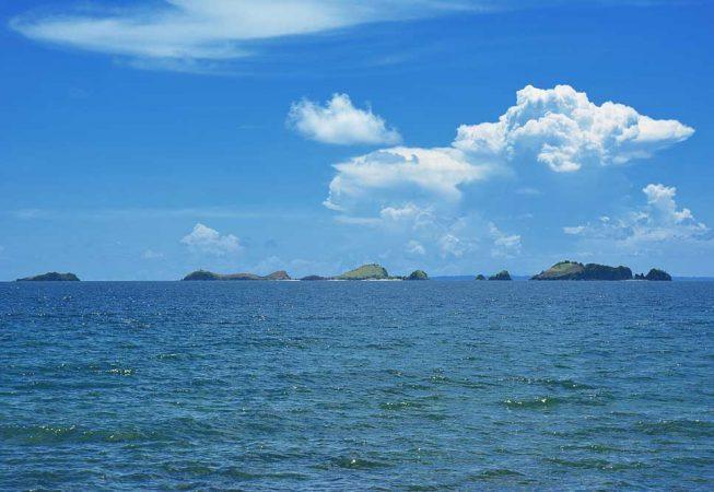 Sambawan Island from a distance